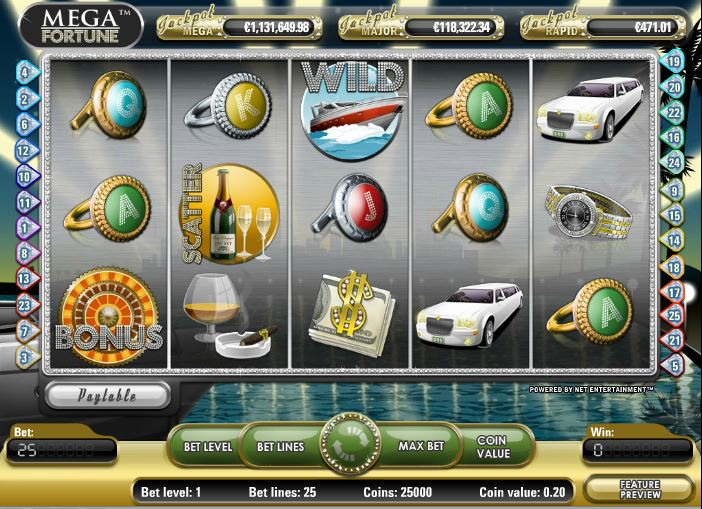 jackpot games megafortune