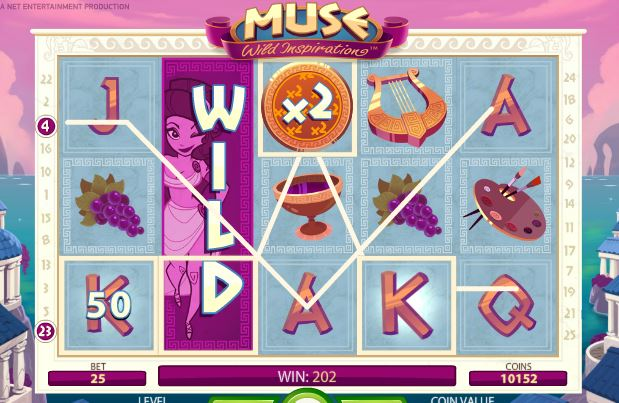 wild feaure in muse slot